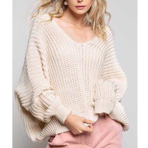 POL Oversized Chunky Knit Sweater Size L-NEW⭐️